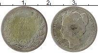 Изображение Монеты Нидерланды 25 центов 1901 Серебро VF Вильгельмина