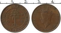 Изображение Монеты Цейлон 1 цент 1940 Бронза XF