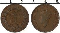 Изображение Монеты Индия 1/4 анны 1939 Медь XF Георг VI
