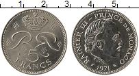 Изображение Монеты Монако 5 франков 1971 Медно-никель UNC- Раньер III