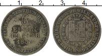 Изображение Монеты Германия Гессен 1/6 талера 1835 Серебро VF