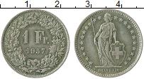 Изображение Монеты Европа Швейцария 1 франк 1957 Серебро XF