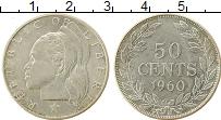 Изображение Монеты Либерия 50 центов 1960 Серебро UNC-