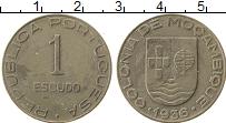 Изображение Монеты Мозамбик 1 эскудо 1936 Медно-никель XF Португальская колони
