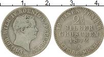 Изображение Монеты Пруссия 2 1/2 гроша 1842 Серебро VF Фридрих Вильгельм IV