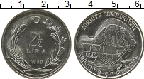 Изображение Монеты Турция 2 1/2 лиры 1980 Медно-никель UNC ФАО