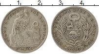Изображение Монеты Перу 1/5 соля 1916 Серебро XF-