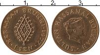 Изображение Монеты Бруней 1 сен 1977 Медь UNC-