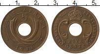Продать Монеты Восточная Африка 5 центов 1936 Бронза