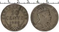 Изображение Монеты Ньюфаундленд 50 центов 1909 Серебро VF Эдуард VII