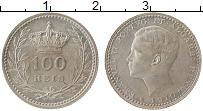 Изображение Монеты Португалия 100 рейс 1910 Серебро UNC-