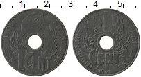 Изображение Монеты Индокитай 1 цент 1941 Цинк XF Протекторат  Франции