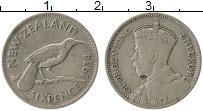 Изображение Монеты Новая Зеландия 6 пенсов 1934 Серебро VF Георг V