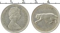 Изображение Монеты Канада 25 центов 1967 Серебро XF Рысь