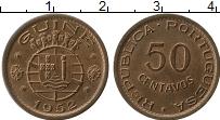 Изображение Монеты Гвинея 50 сентаво 1952 Бронза UNC- Португальская