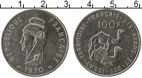 Изображение Монеты Франция Афарс и Иссас 100 франков 1970 Медно-никель XF
