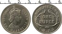 Изображение Монеты Сейшелы 1 рупия 1972 Медно-никель UNC- Елизавета II