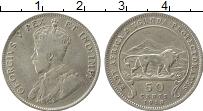 Изображение Монеты Уганда 50 центов 1918 Серебро XF- Георг V