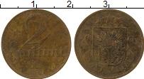 Изображение Монеты Латвия 2 сантима 1922 Латунь VF
