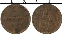 Изображение Монеты Пруссия 3 пфеннига 1868 Медь XF В