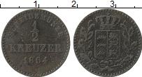Изображение Монеты Вюртемберг 1/2 крейцера 1864 Медь VF+