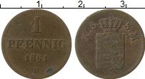 Изображение Монеты Саксе-Мейнинген 1 пфенниг 1861 Медь VF В