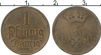 Изображение Монеты Данциг 1 пфенниг 1930 Бронза XF-