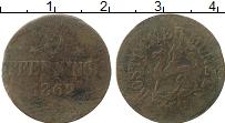 Изображение Монеты Росток 3 пфеннига 1862 Медь VF