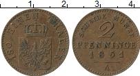 Изображение Монеты Пруссия 2 пфеннига 1851 Медь XF
