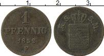 Изображение Монеты Саксе-Мейнинген 1 пфенниг 1852 Медь VF