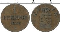 Изображение Монеты Саксе-Мейнинген 1 пфенниг 1843 Медь VF