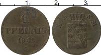 Изображение Монеты Саксе-Мейнинген 1 пфенниг 1843 Медь VF G