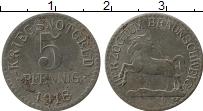 Изображение Монеты Германия : Нотгельды 5 пфеннигов 1918 Железо VF Брауншвайг