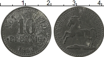 Изображение Монеты Германия : Нотгельды 10 пфеннигов 1920 Цинк VF Брауншвейг