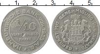Изображение Монеты Гамбург 1/10 марки 1923 Алюминий XF-