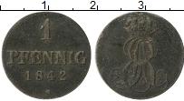 Изображение Монеты Ганновер 1 пфенниг 1842 Медь VF