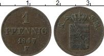 Изображение Монеты Саксе-Мейнинген 1 пфенниг 1847 Медь XF- F