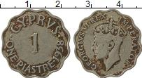Изображение Монеты Кипр 1 пиастр 1938 Медно-никель VF Георг VI