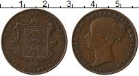 Изображение Монеты Остров Джерси 1/26 шиллинга 1851 Медь XF- Виктория