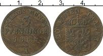 Изображение Монеты Пруссия 3 пфеннига 1865 Медь VF А