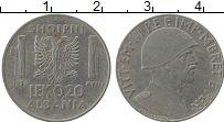 Изображение Монеты Европа Албания 0,20 лек 1939 Медно-никель VF