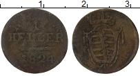 Изображение Монеты Саксония 1 геллер 1824 Бронза VF