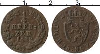 Изображение Монеты Нассау 1/4 крейцера 1822 Бронза XF