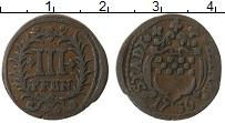 Изображение Монеты Германия Хамм 3 пфеннига 1736 Медь XF-