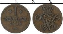 Изображение Монеты Гессен-Кассель 1 геллер 1828 Медь XF
