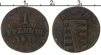 Изображение Монеты Саксен-Веймар-Эйзенах 1 пфенниг 1824 Медь VF