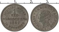 Изображение Монеты Саксония 1 грош 1867 Серебро VF Иоганн