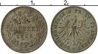 Изображение Монеты Франкфурт 1 крейцер 1866 Серебро XF