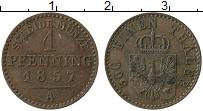Изображение Монеты Пруссия 1 пфенниг 1857 Медь XF А