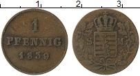 Продать Монеты Саксе-Мейнинген 1 пфенниг 1839 Медь
